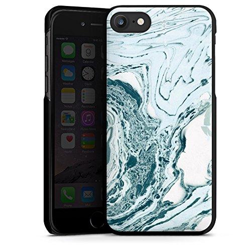 Apple iPhone X Silikon Hülle Case Schutzhülle Marmor Marble Marmoriert Hard Case schwarz