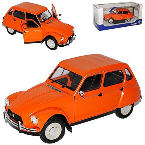 Solido Citroen Dyane 6 Orange 5 Türer 1967-1984 1/18 Modell Auto mit individiuellem Wunschkennzeichen - Modell Citroen