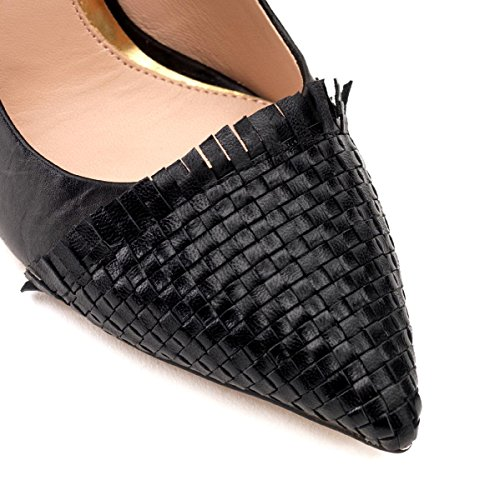 Café Noir Decolleté, Chaussures à talons - Avant du pieds couvert femme Noir