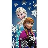 BERONAGE Disney Badetuch Frozen - die Eiskönigin - Anna + Elsa - Strandtuch 75 x 150 cm 100% Baumwolle Strandlaken Badelaken Handtuch Saunatuch Olaf Kristoff Sven Arendelle