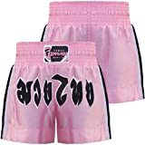 Farabi Kids Pink Muay Thai Short Kick Boxing Training, Age 4-8 years old 2X Small, Pink
