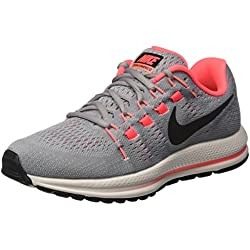 Nike W Air Zoom Vomero 12 (W), Zapatillas de Trail Running para Mujer, Gris (Wolf Grey/Black/Pure Platinum/Hot Punch 002), 38 EU