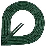 Di Ficchiano Lacets ciré ronds premium Ø 2–3mm, longueur 45–120cm, indéchirable 80 cm vert foncé