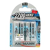 ANSMANN wiederaufladbar Akku Batterie Mignon AA Typ 2700mAh NiMH hochkapazitiv Hohe Kapazität ohne Memory-Effekt Profi Digital Kamera-Akkubatterie 4er Pack
