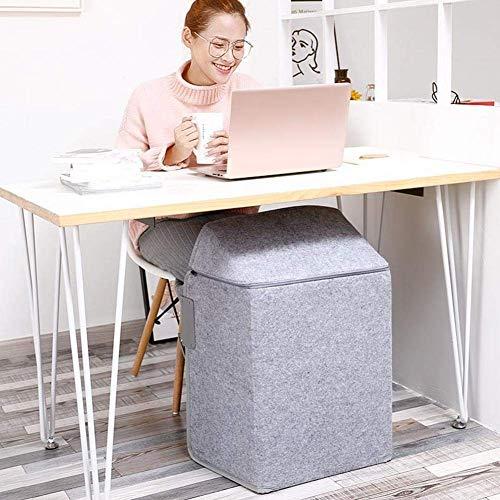 Scaldapiedi elettrico, termostato regolabile, funzionamento silenzioso, riscaldatore di parcheggio pieghevole a risparmio energetico - scaldapiedi sotto la scrivania - modello di bambù