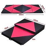 Yaheetech 10FT Foldable Anti Slip Exercise Yoga Gymnastics Mat PU Soft Tumble Play
