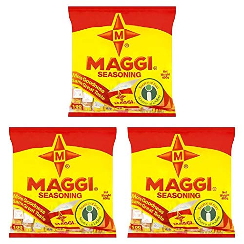 Maggi Seasoning Cubes (100 Cubes) 400g - (Pack of 3) - Product of Nigeria