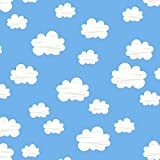 Cloud Stoff – Wolken blau – TT137–0,5 Meterware – von Timeless Treasures – 100% Baumwolle