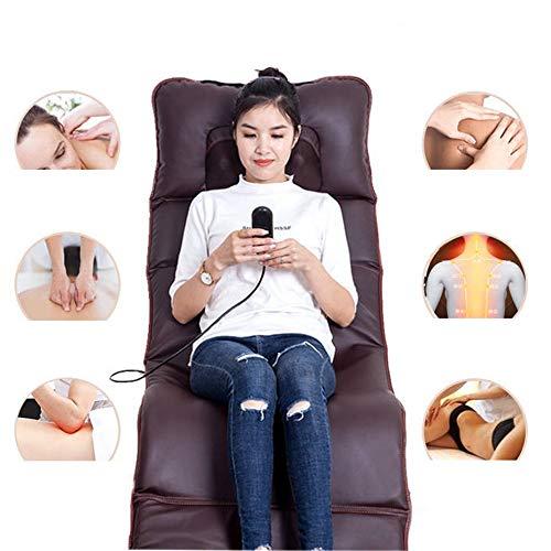 Massage zurück mit Wärme Airbag Massage-Matratze Körper Multi-Purpose-Massagekissen für das Lehnen auf der Vibration Ganzkörper Ganzkörper-Massage-Matratze,Braun