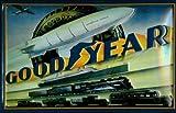 Blechschild Goodyear Zeppelin Eisenbahn Auto Bus Schild Nostalgieschild retro Werbeschild