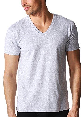 "Mey Club ""Mey Club"" Herren Homewear Shirts 46507 Light Grey Melange"