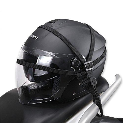 Behavetw Casco moto fascetta Cord, heavy duty Bungee corda elastica elastico cinghia per bagagli con ganci per abbinamento, Come da immagine, 60 cm