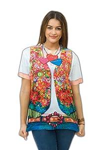 Zoelibat - Camiseta para mujer, niña Hippie, manga corta, tamaño M, multicolor (14017142.300.)
