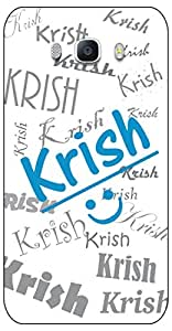 APE Name (KRISH) Print Back Cover for Samsung Galaxy On 8