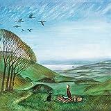 1art1 116804 Joe Ramm - Canada Geese Poster Leinwandbild Auf Keilrahmen 30 x 30 cm