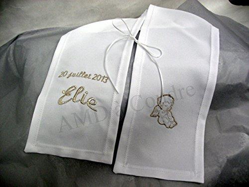 echarpe-enfant-ceremonie-bapteme-personnalisee-motif-angelot-polyester-fil-argente-metallique-couleu
