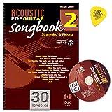 Acoustic Pop Guitar - Songbook 2 von Michael Langer - Strumming and Picking - Gitarre Noten mit CD und Dulop Plek
