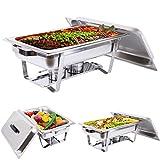 xuanyue Chafing Dish 9L Speisewärmer halten Tank Edelstahl Buffet Chafer Business Catering Lebensmittel Pfanne Wärmer 600x 250x 250mm
