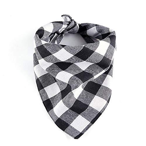 ZTMN Pullover Hund Pet Classic Gitterhalsband Hund und Hund Double Cotton Soft Triangle Schal. Kleidung für Hunde (Farbe: Schwarz, Größe: S) (Double Date Kostüm)