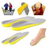 Skroad 2 Paar Schuheinlagen, Orthesen Einlagen, Memory Schaum-Einlegesohlen eine ausgezeichnete Stoßdämpfung und Dämpfung, Einlegesohlen für Männer und Damen für den täglichen Einsatz