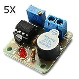 Bluelover 5Pcs 9V 12V Batterie-Ton Und Licht-Alarm-Schutz-Modul Gegen ?ber-Entlastung-Brett
