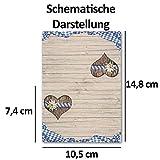 100 Tisch-Karten Bavaria DIN A7 - Falt-Karten 7,4 x 10,5 cm bedruckbar - Namens-Kärtchen für Feste, Biergarten, Gastro, Hotel - von Ihrem Glüxx-Agent - 3