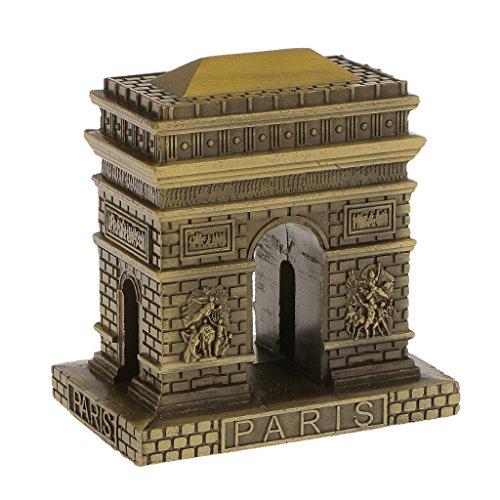 Modello Trionfo Francia Parigi Trionfale Statua Edifici Mensola Decorazione Casa Figurine modellismo Collezioni Souvenir - 8cm