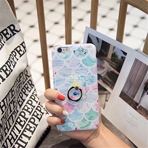 iPhone 6 Plus Case, Laser Bling Soundmae Personalized Marble Design [Glossy Soft Touch Feeling Case] Shiny Color Changed Sparkling Back Cover for iPhone 6 Plus 5.5, Gary Scale