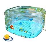 Zxy Aufblasbare Badewanne, transparenter umweltfreundlicher gemalter Swimmingpool des Babys, Baby...
