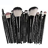 SMILEQ 22 Stücke Kosmetik Make-Up Pinsel Rouge Lidschatten Pinsel Set Kit (Länge: 1,0 Breite: 1,0 Höhe: 1,0, Schwarz)