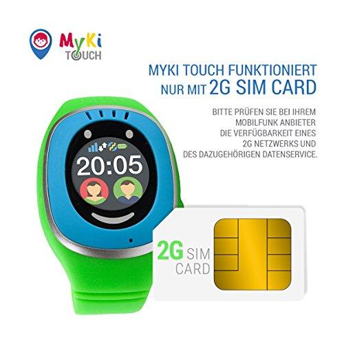 MyKi GPS Uhr Kinder, Smartwatch mit GPS Tracker, Handy Ortung, SOS und App Tracking in Deutsch (Blau) - 2
