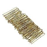 Anself 300 St¨¹ck Haarnadeln U-Form Haar clips mit Tropfen Golden 5 cm L?nge