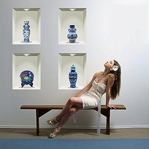 JMHWALL 60*90cm vase en céramique de style chinois en porcelaine