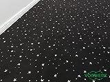 Die Vorwerk Bijou Kollektion - Bijou Stars Teppichboden in 5 Farben Mustermaterial - Inkl. 2% HEVO Bestellgutschein - Schwarz