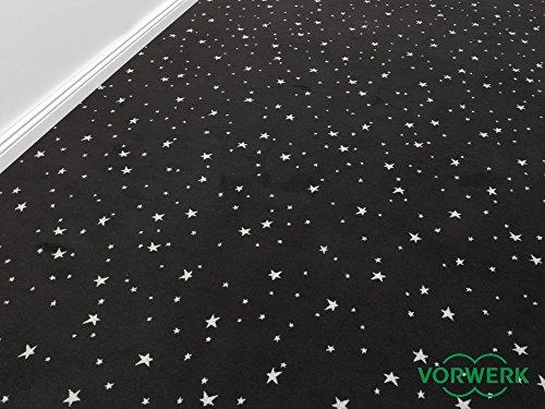Die Vorwerk Bijou Kollektion - Bijou Stars Teppichboden in 5 Farben Mustermaterial - Inkl. 2% HEVO® Bestellgutschein - Schwarz