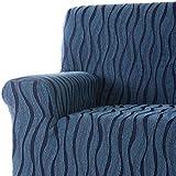 DECORACION NUEVO ESTILO- Funda de sofá AMBROZ en tejido elástico, tamaño Orejero. color 07 Azulina (varios colores y medidas)