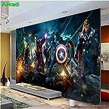 Chambre à coucher Chambre à coucher Papier peint Salle de séjour moderne Salon TV Fond Bar Mural Avenger League Personnage Anime Toute Taille,200x140cm