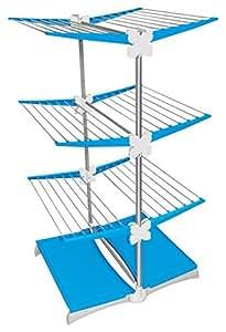 Meliconi Stendimeglio Junior Quadrifoglio, Stendibiancheria Verticale 33 m, in Alluminio