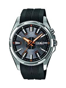 Casio Edifice - Reloj de cuarzo para hombre, con correa de plástico, color negro de Casio