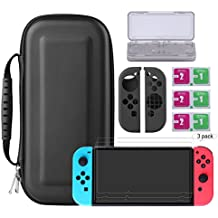 Bestico Nintendo Switch Protector Kit, Switch Accessori 4 in 1 include Nintendo Switch Custodia/Case per (Mario Kart Ds)