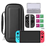 Bestico Nintendo Switch Zubehör , 7 in 1 Switch Starter Set Beinhalteteine Nintendo Switch Tasche, Game Card Schutzhülle, 3x Displayschutzfolie, Schutzhüllefür die Joy-Con
