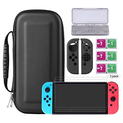Bestico Nintendo Switch Kit Protección, Funda Switch Accesorios de Pr