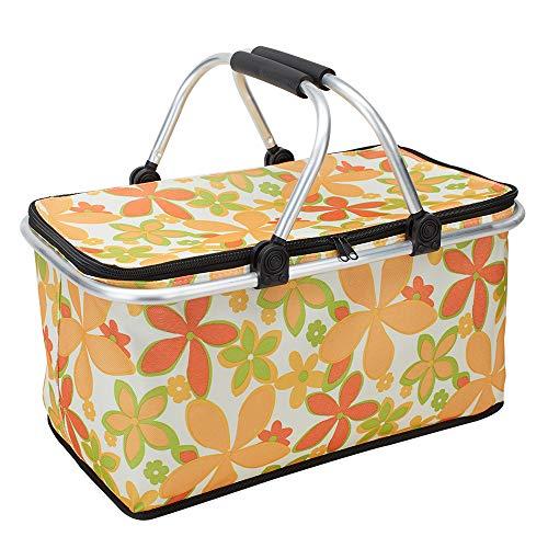 King mate pieghevole picnic cestini grande capacità borsa termica pieghevole per borsa frigo, borsa per la spesa fresco borsa borsa termica per esterni picnic viaggio