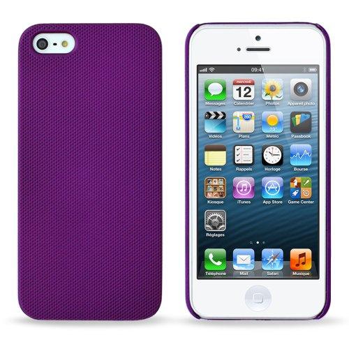 Flip-Case APPLE IPHONE 5 [CroCoChic Premium] [Rosa] von MUZZANO + STIFT und MICROFASERTUCH MUZZANO® GRATIS - Das ULTIMATIVE, ELEGANTE UND LANGLEBIGE Schutz-Case für Ihr APPLE IPHONE 5 violett + 3 displayschutzfolien