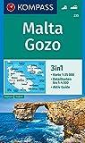 KOMPASS Wanderkarte Malta, Gozo: 3in1 Wanderkarte 1:25000 mit Aktiv Guide und Detailkarten. Autokarte. (KOMPASS-Wanderkarten, Band 235) -
