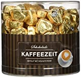 Günthart 150 Stück gold Schokoladen Herzen mit Nougatfüllung | Nougatcreme...
