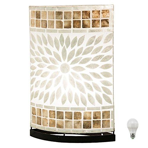 Tisch Leuchten Wohn Zimmer Muschel Mosaik Flur Lampen Lese Beleuchtung schaltbar