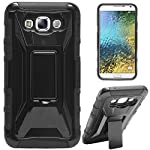 This is a rugged and sturdy hard back case made for your Samsung Galaxy E5. The case not just adds style to your device but also provides you with optimum grip. The case is durable, well made and built to withstand a fall with ease. It fits perfectly...