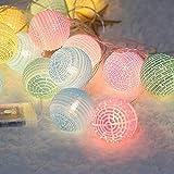 Weihnachtsdekorationslichter, 4M 20LED Weihnachtsschnurlichter - wasserdichter gewölbter Ball führte Lampe DC12V, die für Schlafzimmerdekorationen, Parteien, Stadium, Hochzeit perfekt ist