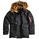 Alpha Industries Explorer Winterparka (div. Farben) (L, Black)